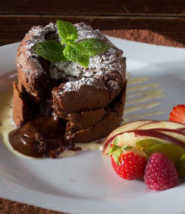 moelleux au chocolat, restaurant de la Grange de Condé en Moselle