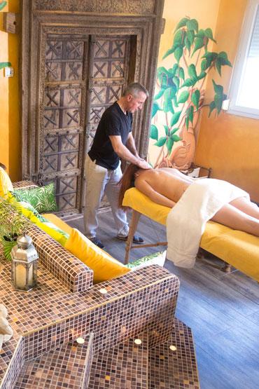 Spa et massages, espace détente de l'hôtel de la Grange de Condé en Lorraine
