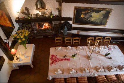 La salle des mineurs, restaurant la Grange de Condé en Lorraine